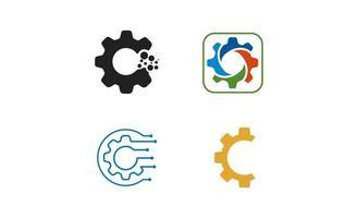 versnelling logo set creatief ontwerp illustratie vector