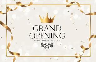 grootse opening luxe uitnodiging banner achtergrond. vector illustratie