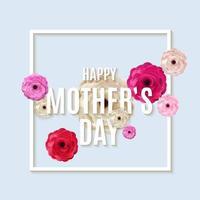 ik hou van je mama. gelukkige moederdag achtergrond. vector illustratie