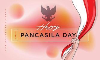 gelukkige pancasila-dagviering vector