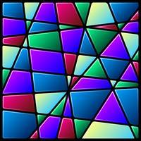 Kleurrijke gebrandschilderd glas venster achtergrond