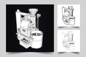 koffiemachine illustratie vector