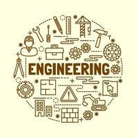 engineering minimale dunne lijn iconen set vector