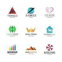 abstracte logo ontwerpset vector
