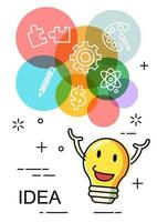 kleurrijk idee vectorontwerp vector