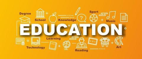 onderwijs vector trendy banner