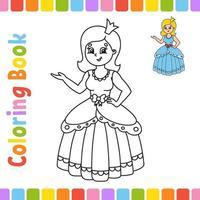 kleurboek voor kinderen. vrolijk karakter. vector illustratie. schattige cartoon stijl. fantasiepagina voor kinderen. zwart contour silhouet. geïsoleerd op een witte achtergrond.