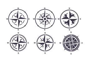 Kompas pictogrammen Vector