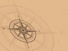 Vintage kompas achtergrond vector