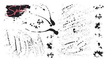 vector penseelstreken, lijnen, spatten. artistieke elementen.