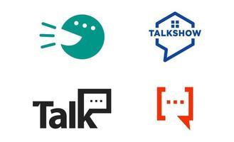 chat praten logo ontwerp eenvoudige creatieve vector