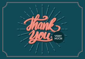 """Thank You"" Retro Lettering Typografie vector"