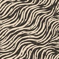 naadloze vector patroon van gebogen strepen met gescheurde randen. beige verfstreken op donkere achtergrond.