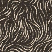 vector naadloze textuur van beige kleur van vloeiende gescheurde lijnen geïsoleerd op donkere achtergrond.