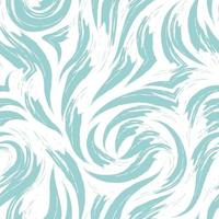 vector abstract turkoois golf of wervelings naadloos patroon dat op witte achtergrond wordt geïsoleerd.