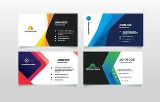 bedrijfsnaamkaartcollectie vector