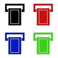 ATM-pictogram op witte achtergrond vector