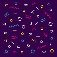 Memphis achtergrond met geometrische vormen vector