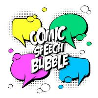 komische tekstballonnen vector