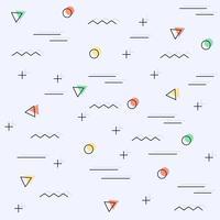 Memphis achtergrond met geometrische vormen