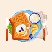 Vector kleurrijke ontbijt illustratie