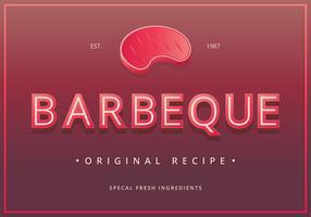 Vintage barbecuetekens. Retro Vintage barbecue teken. vector