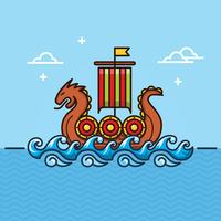 Viking Ship Illustratie vector