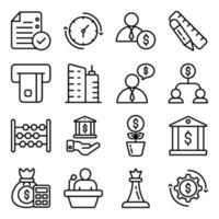 pakket zakelijke en e-commerce lineaire pictogrammen vector