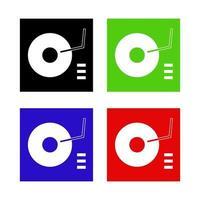 dj mixer pictogram op de achtergrond