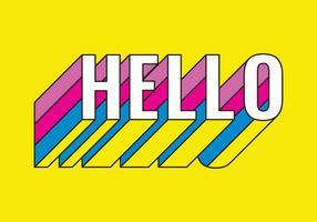 Hallo retro typografie vector