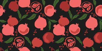 vector naadloze patroon met granaatappel. trendy handgetekende texturen. modern abstract ontwerp