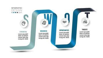 swot-analyse zakelijke of marketing infographic sjabloon.