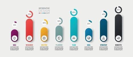 bedrijfsconcept infographic sjabloon met percentage optie.