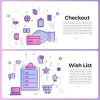 banner illustraties zakelijke overzicht pictogrammen