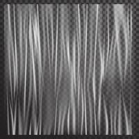 vector verticale uitgerekte witte plastic film in realistische stijl.