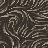 naadloze vector patroon van vloeiende lijnen getekend door een beige pen.