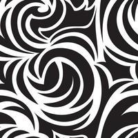 zwarte naadloze textuur van spiralen en krullen. zwart-wit patroon. spiraalvormige krullen en wervelingen.
