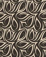 vector naadloze patroon van vloeiende hoeken en geborstelde lijnen. textuur van beige lijnen op een bruine achtergrond.