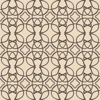 Keltisch bruin etnisch vectorpatroon met rieten elementen. vector