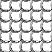 vector naadloze lineaire patroon van ongelijke lijnen in de vorm van kruisende cirkels.