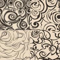 set van naadloze abstracte patronen in beige kleuren.