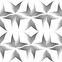 naadloze vector patroon van ongelijke lijnen getekend door een pen in de vorm van hoeken.