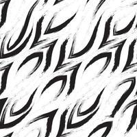 naadloze vector patroon van hoeken en vloeiende lijnen. geometrisch abstract patroon van penseelstreken.
