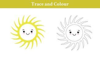 trace en kleur zon