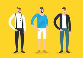 hipster man mode vector