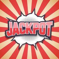 jackpot. komische tekstballon. vector illustratie
