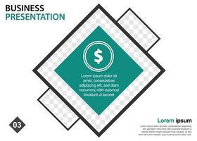 zakelijke presentatie ontwerpsjabloon. perfect voor brochures, marketingpromotie, infographics enz vector