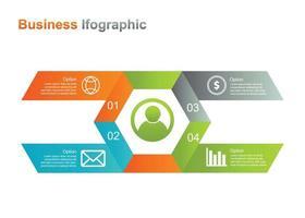 zakelijke infografische ontwerpsjabloon. 4 optie infographic vectorillustratie. perfect voor marketing, promotie, presentatieontwerpelement vector