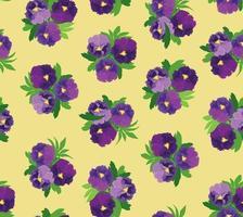 naadloze bloemmotief. bloem achtergrond. bloemen naadloze textuur met bloemen. bloeien betegeld decoratief getekend sierbehang. vector