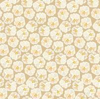 bloemmotief met bladeren in elegante retro lijnstijl. abstracte naadloze floral lijn achtergrond. bloeien decoratieve wintertuin met bloei natuur seizoensgebonden motief vector